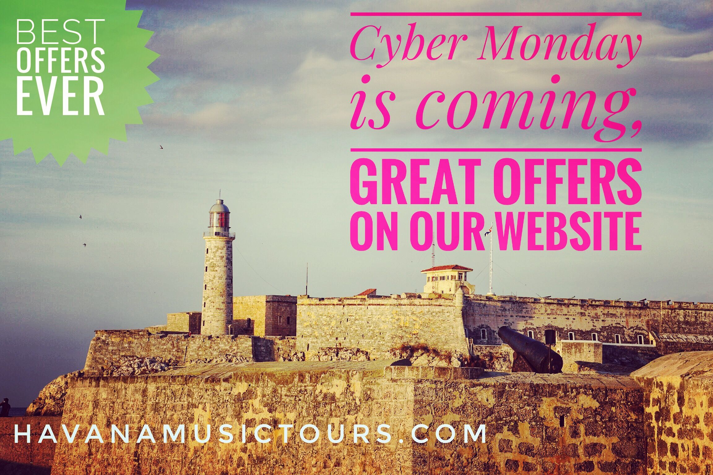 Check our offers for Cyber Monday on our website next monday! . . . #musicacubana🇨🇺 #musictours #blackfriday #cybermonday #greatdeals #traveldealsonline #travelscuba #goodtravels #goodoffersonline #musictravels #holidaysoptions #holidaytraveldeals #holidayspecial #holidayoffers