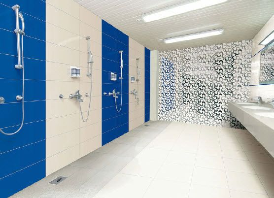 Bathroom tile indoor wall mounted ceramic GALLERY WALL BLUE