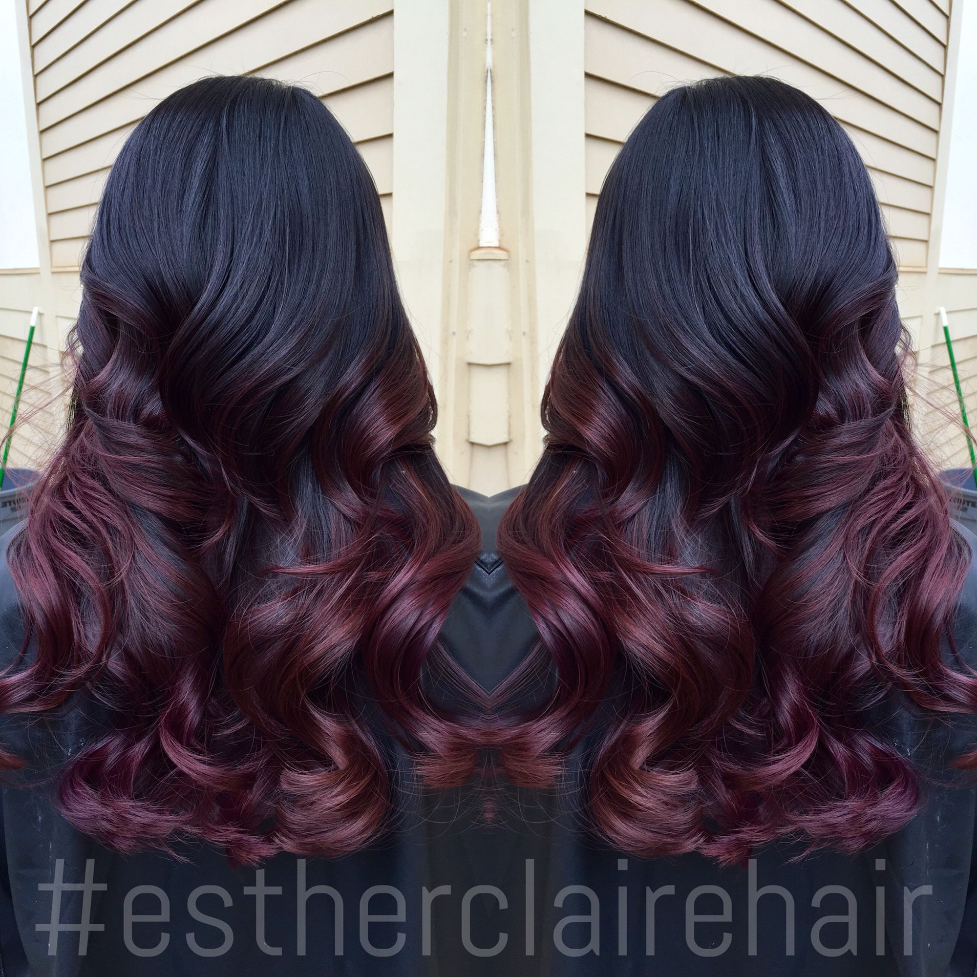ombre redombre colormelt balayage estherclairehair hair pinterest bunte haare haar. Black Bedroom Furniture Sets. Home Design Ideas