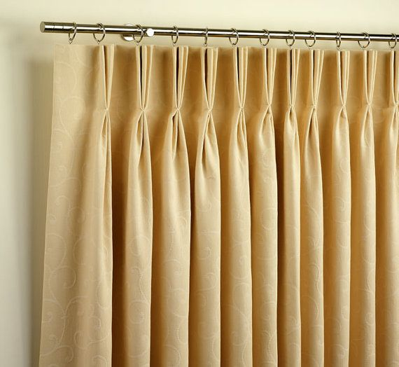 Unlined Pleated Linen Curtains Off White Ivory Linen Drapery