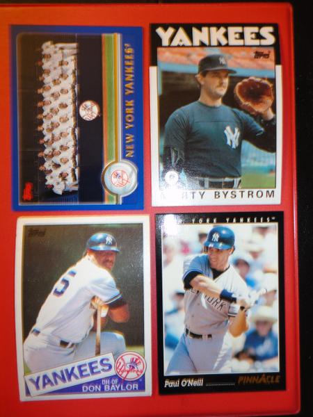 ** 4 OLD New York Yankees Baseball Cards **