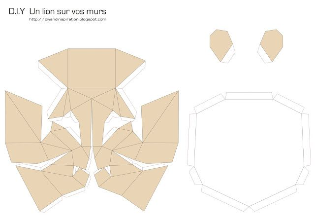 TETE DE LION | Parper art | Pinterest | Origami, Papercraft and Craft