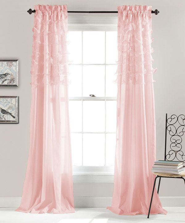 Look At This Pink Ruffle Curtain Panel Set Of Two On Zulily
