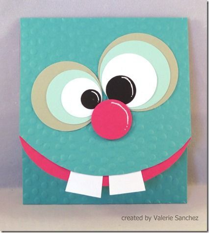 Such a cute card for kids This would be easy to make simple – Homemade Birthday Cards for Kids to Make