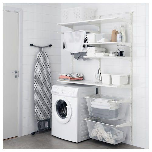Rail / étagères murales ALGOT – métal blanc – IKEA