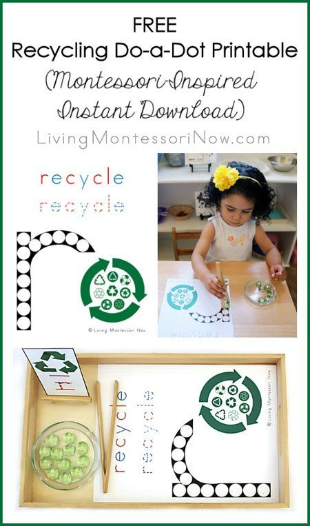 Free Recycling Printables And Montessori Inspired Recycling