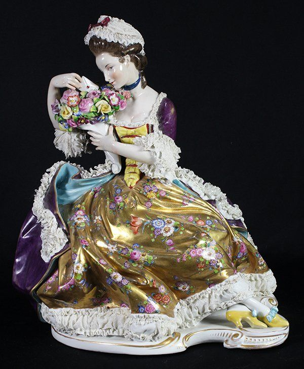 Monumental German crinoline figure : Lot 4232