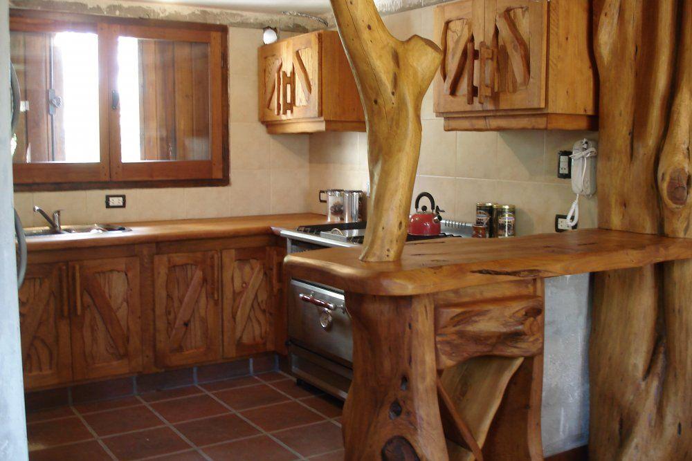 E ramirez muebles r sticos compa ia argentina mar del for Muebles de madera rusticos para cocina