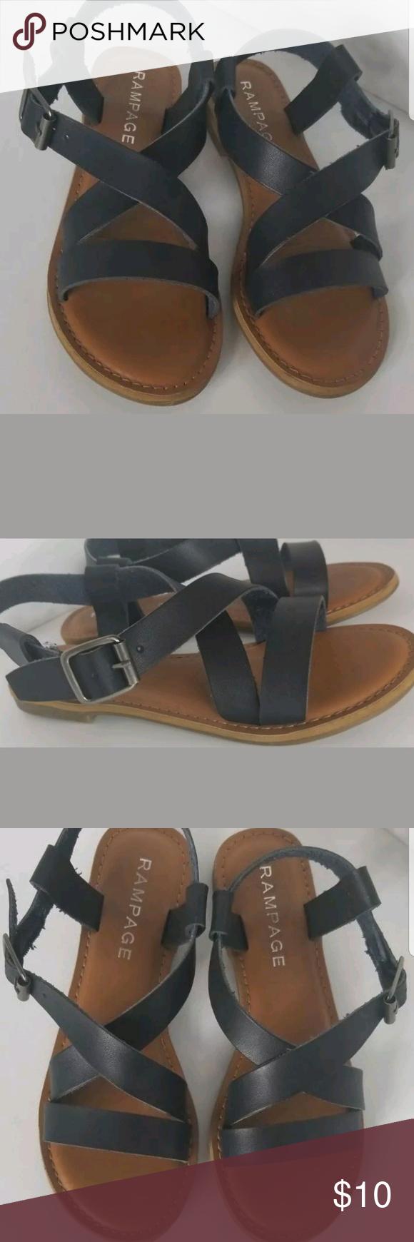 Rampage Maddox Size 6 Navy Blue Sandals