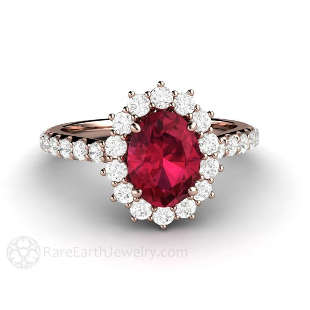 Antique Red Ruby Ring Women Birthday Anniversary Engagement Jewelry Nickel Free