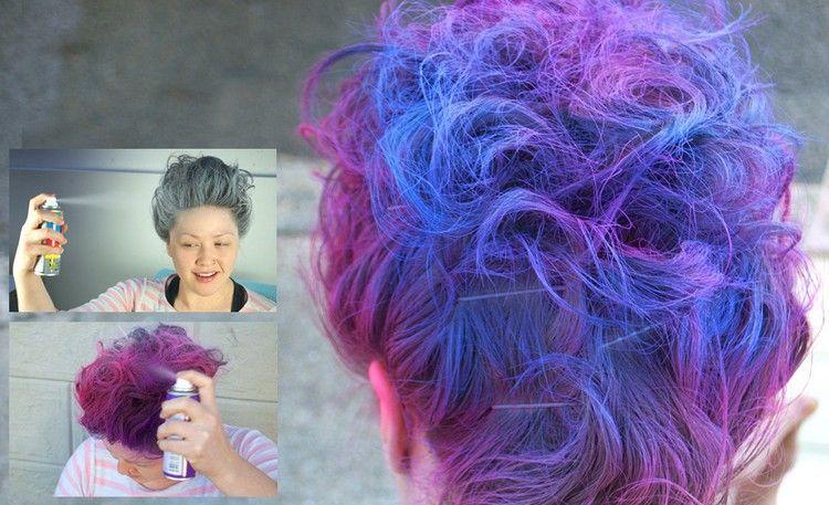 Haare Färben Für Einen Tag Haarspray Pink Blau Sprühfarbe Hair