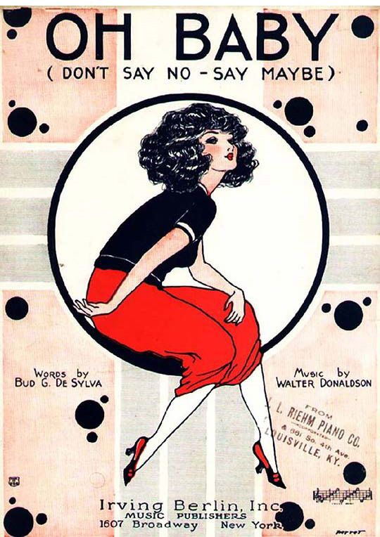 1920s (30s?) Vintage sheet music by Irving Berlin, Inc. Music by Walter Donaldson, Lyrics by Bud De Sylva.