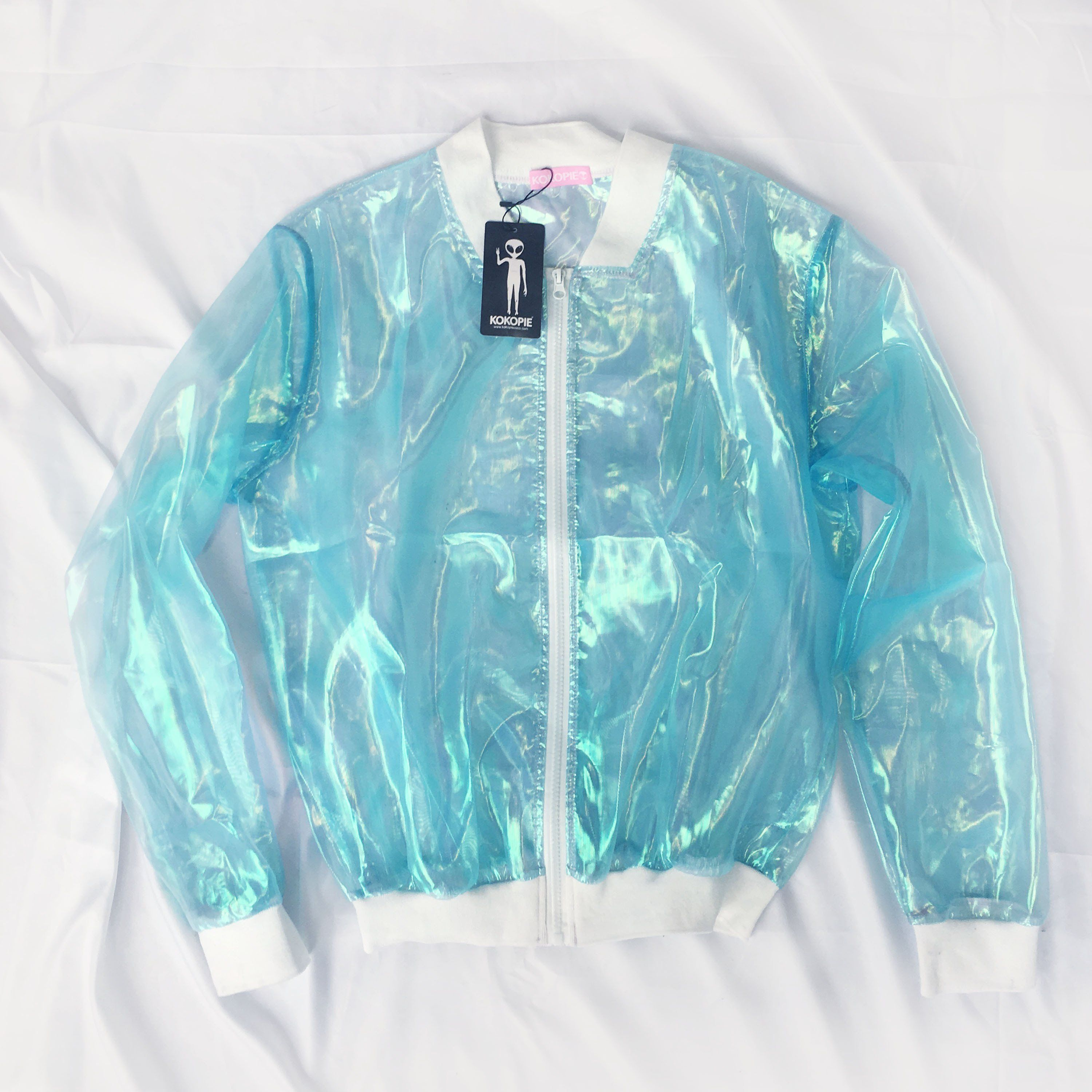 Koko blue holo sheer jacket in clothes pinterest jackets