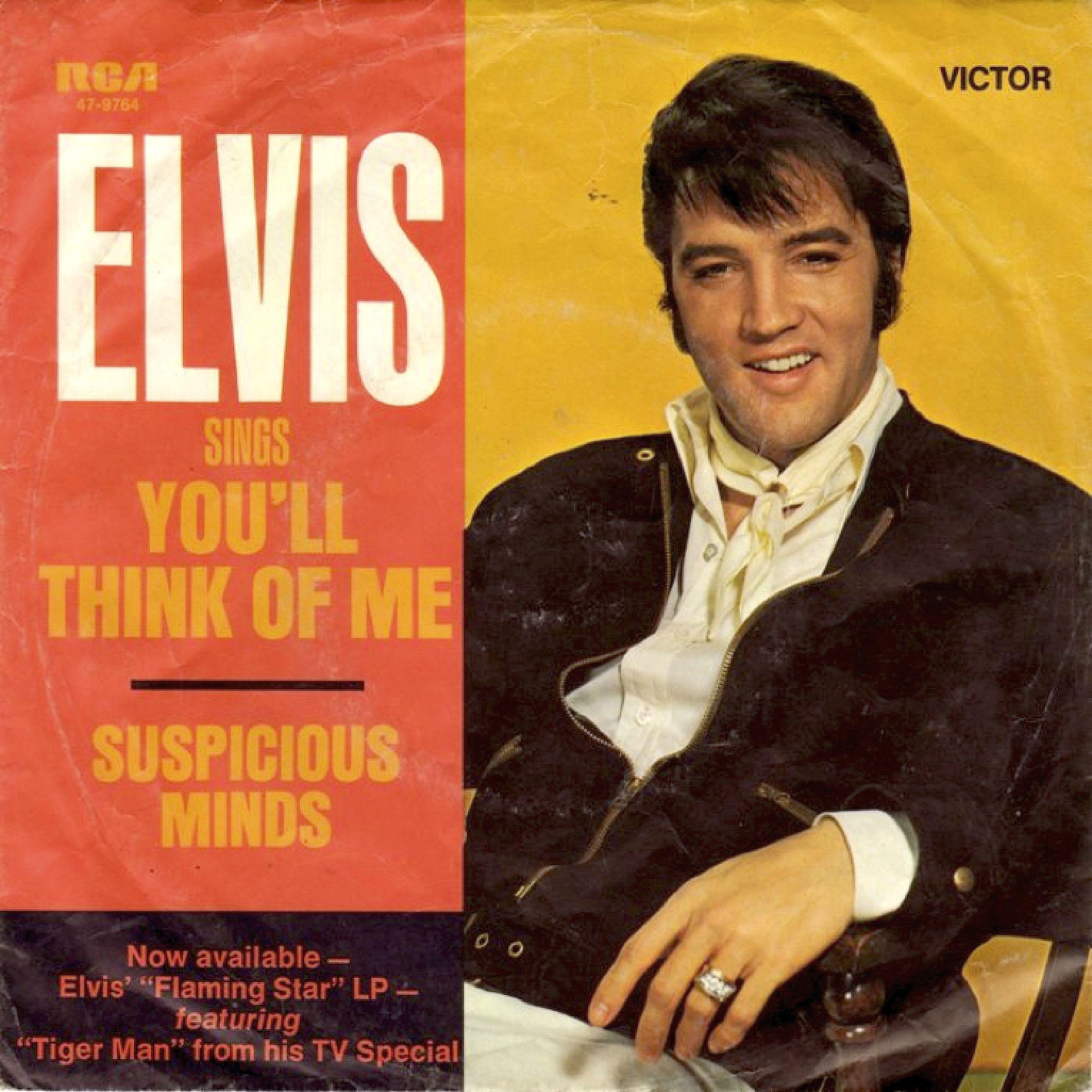 SINGLE VAN DE WEEK: ELVIS PRESLEY - SUSPICIOUS MINDS Uitgebracht in 1969  met als hoogste notering…   Elvis presley albums, Suspicious minds, Elvis  presley records