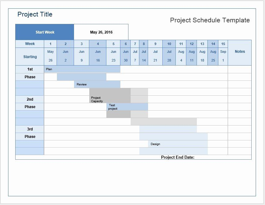 Project Schedule Template Word New Project Schedule Word Template Microsoft Word Templates Schedule Template Sales Strategy Template Templates