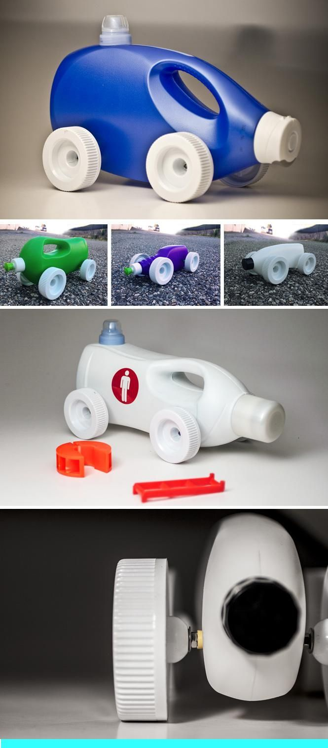 Vehicles out of plastic bottles Wastewagen