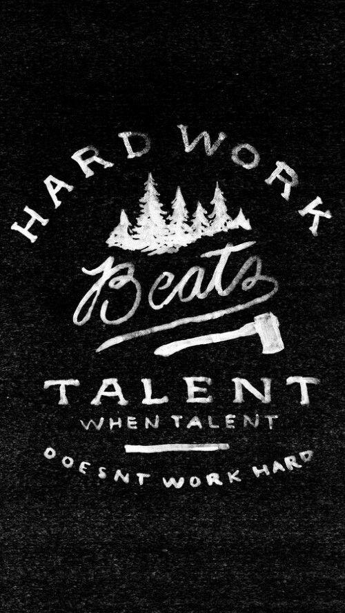 Sometimes Hard Work Beats Talent