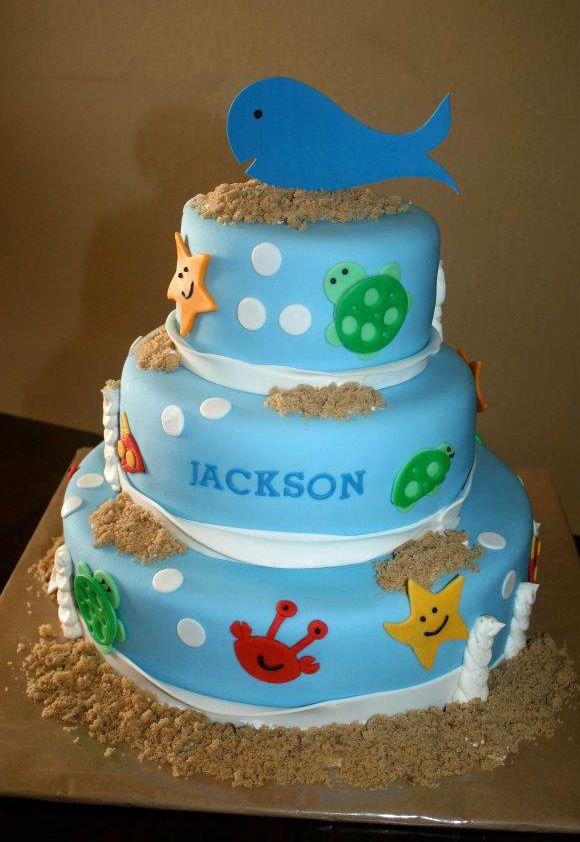 Under the Sea birthday cake