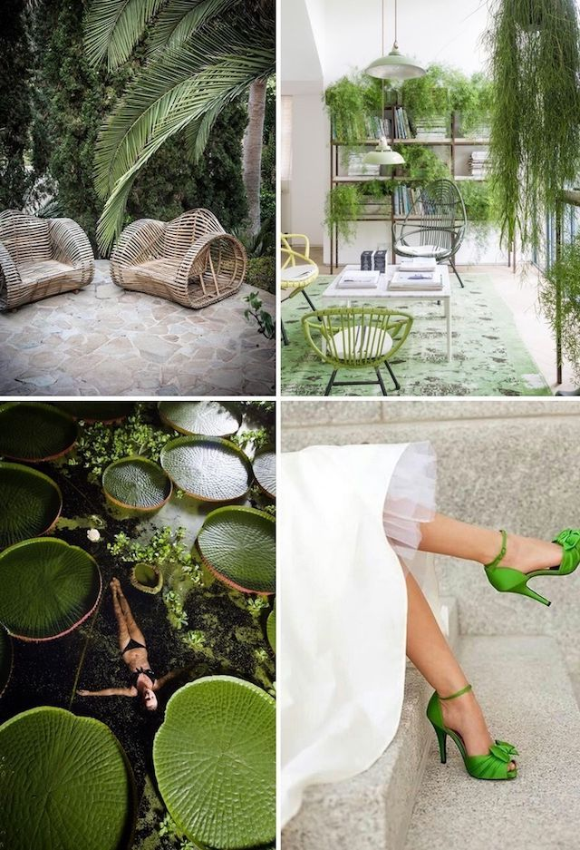 Color of the year 2017 pantone greenery in action - 2017 pantone view home interiors palettes ...