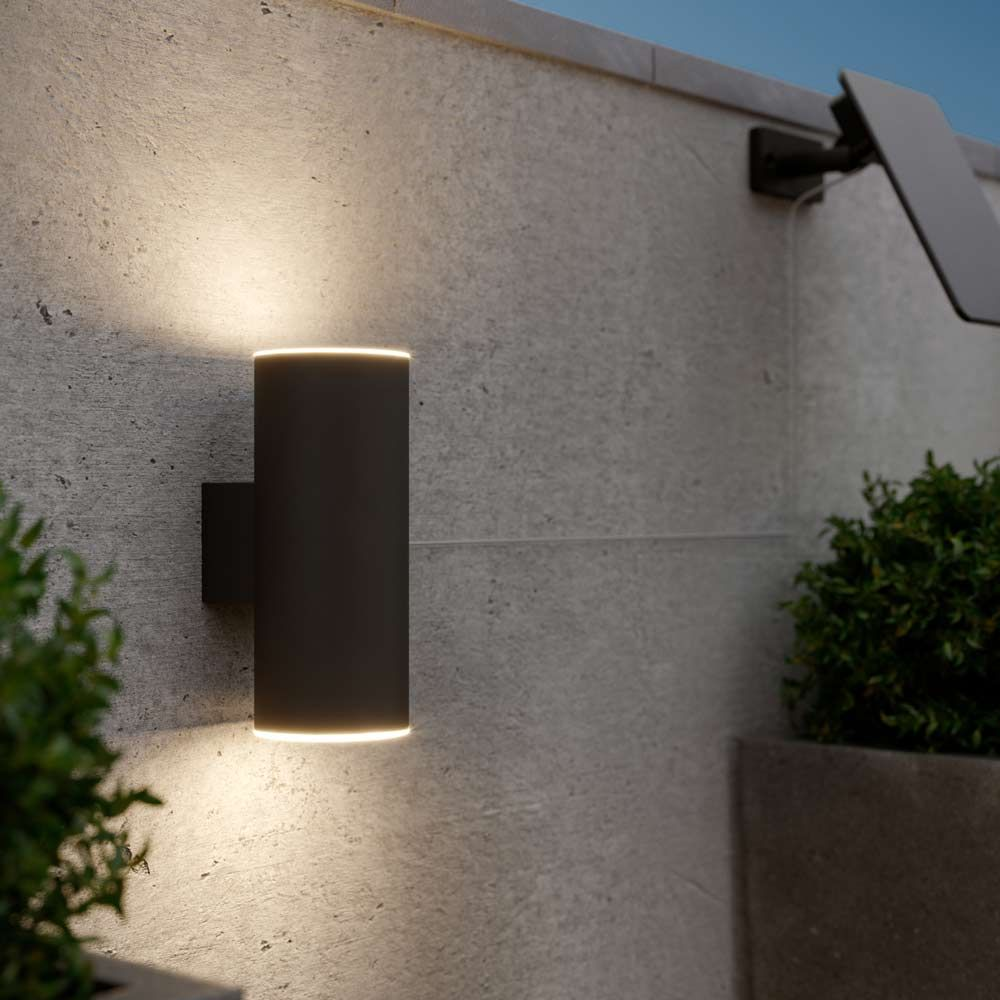 Chester Up Down Solar Wall Light Anthracite Edition Solar