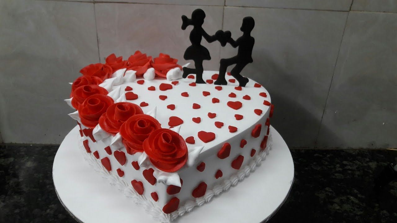 How To Make Engagement Cake Heart Shape Cake Making By New Cake