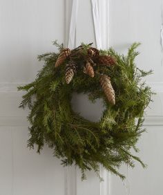 Simple Greenery with Pine Cones