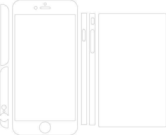 Iphone 6 Plus Skin Template For Cutting Or Machining