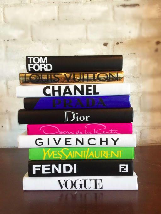 40 BOOKS Color Designer Book Set Chanel Tom Ford Louis Beauteous Designer Books Decor