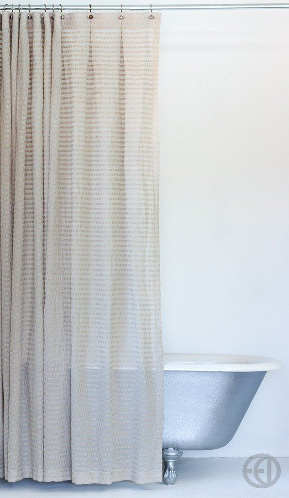 Greige Fabric Shower Curtain In Extra Long Sizes Fabric Shower