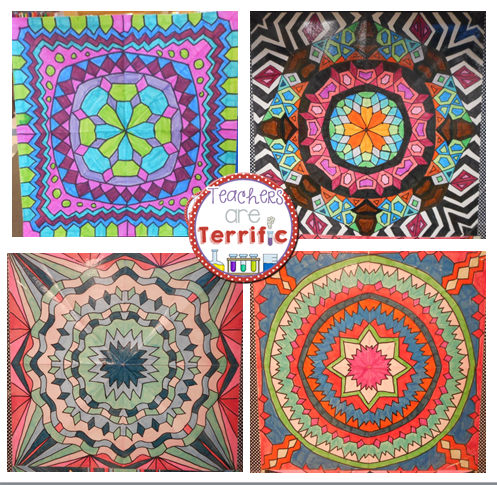 Tried It Tuesday Kaleidoscopes School Art Projects Math Art