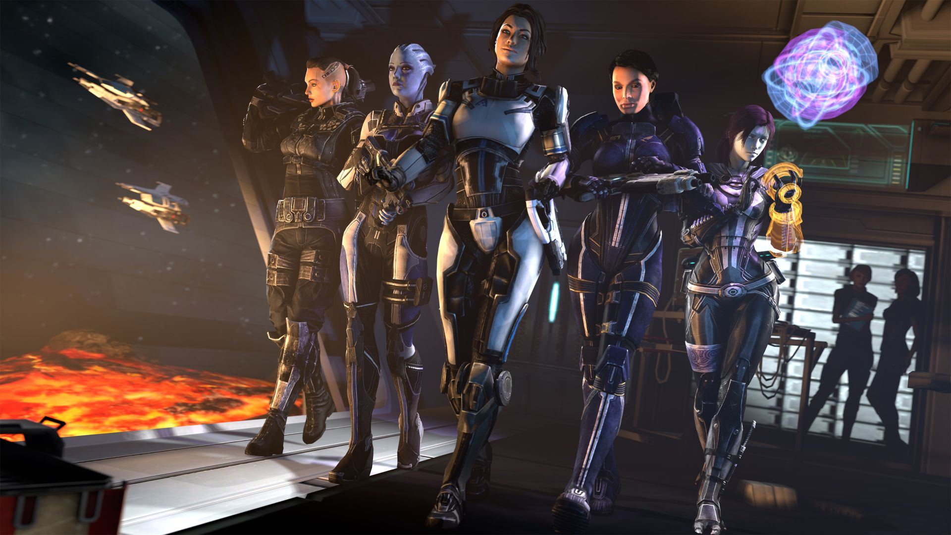 Video Game Mass Effect Ashley Williams Liara T Soni Tali Zorah