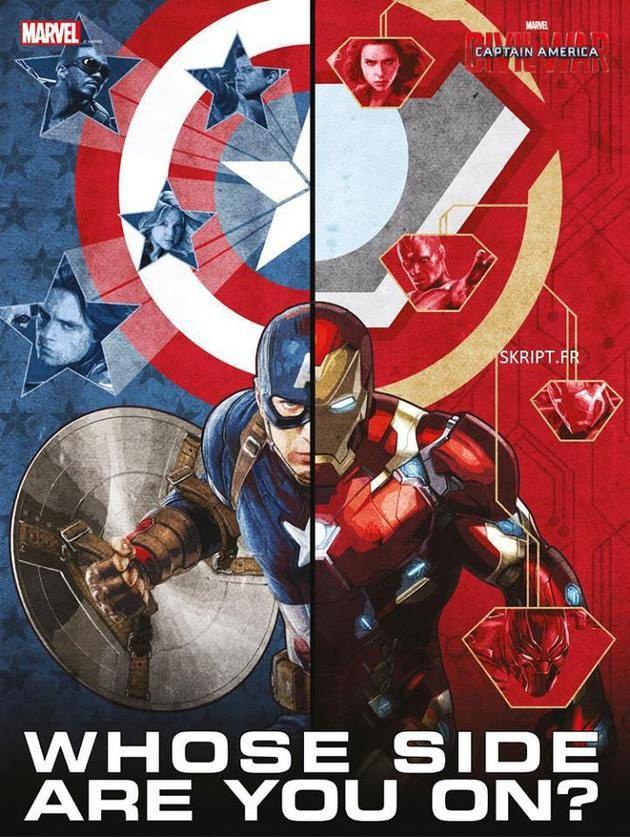 Escolha um lado: novos cartazes de Capitão América Guerra Civil ...