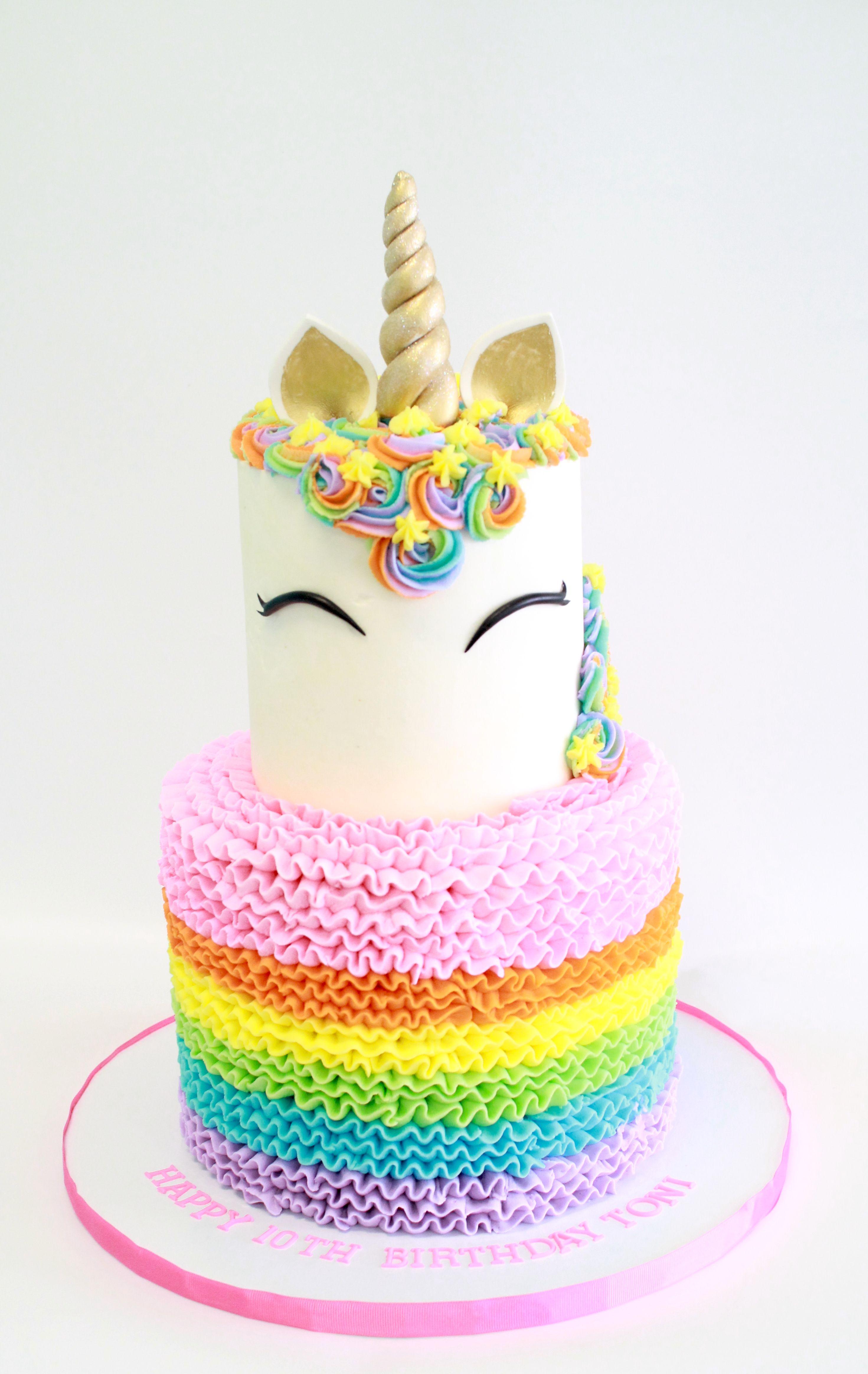 2 Tier Unicorn Cake By Cake Bash Studio Amp Bakery Lake