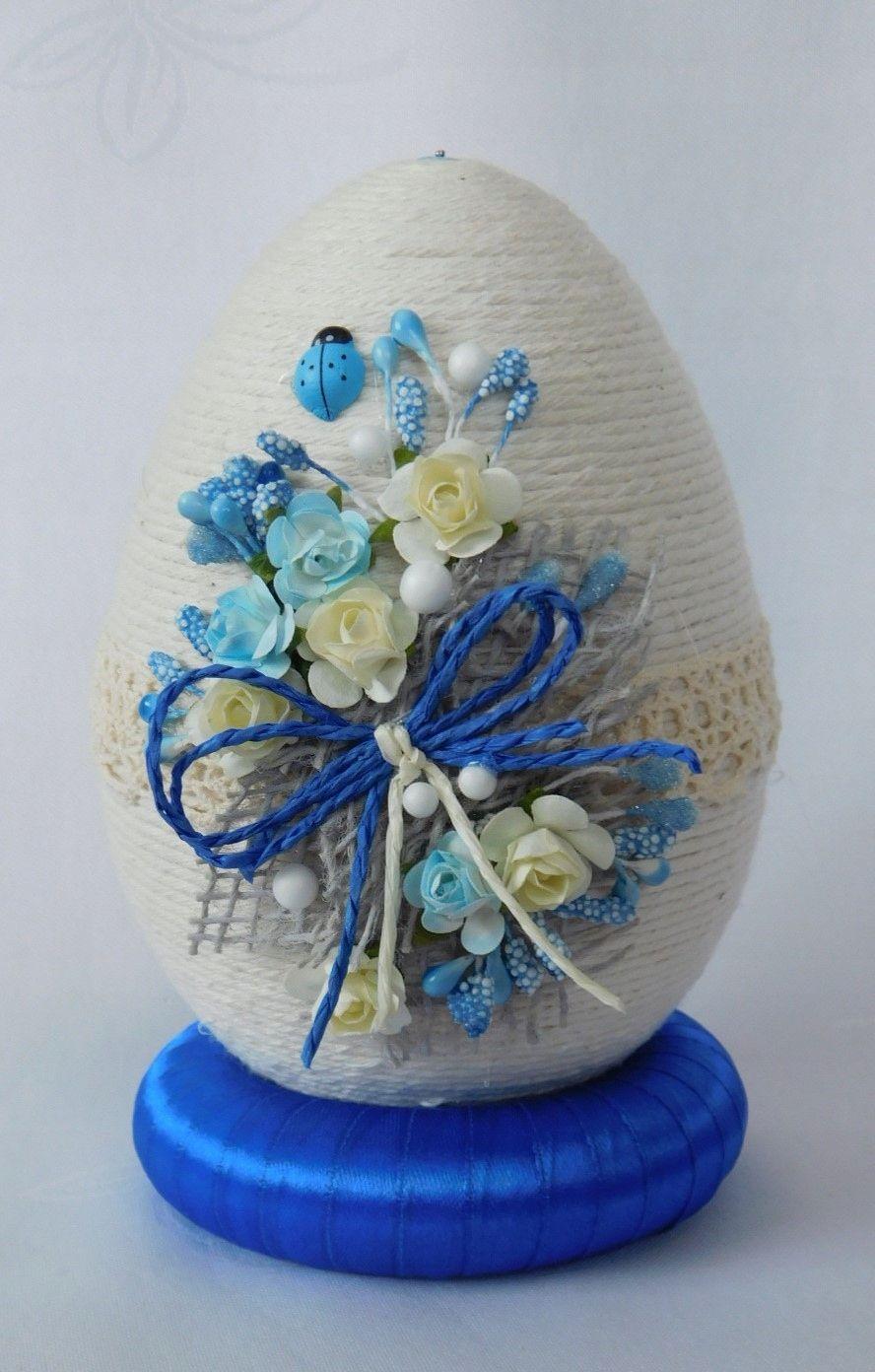 Piekne Jajko Pisanka Ozdoby Wielkanocne Rekodzielo 7165947305 Oficjalne Archiwum Allegro Easter Crafts Easter Egg Decorating Easter Projects