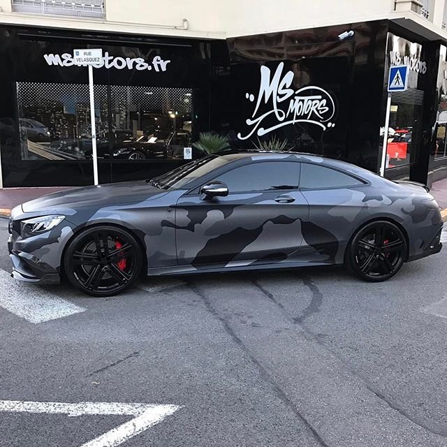 Mercedes S63 AMG Coupe Brabus Spécial Camo Build By