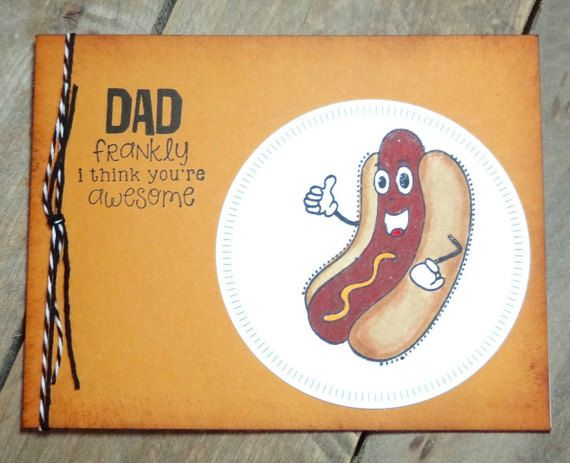 Birthday Cards Funny For Him ~ Funny birthday card for dad handmade birthday greeting card for
