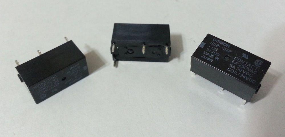 14pcs Omron Sealed Pcb Power Relay Spst 5a 250vac 30vdc 24vdc G6b 1114p Us Dc24 Omron Ebay Ebay Store Control System