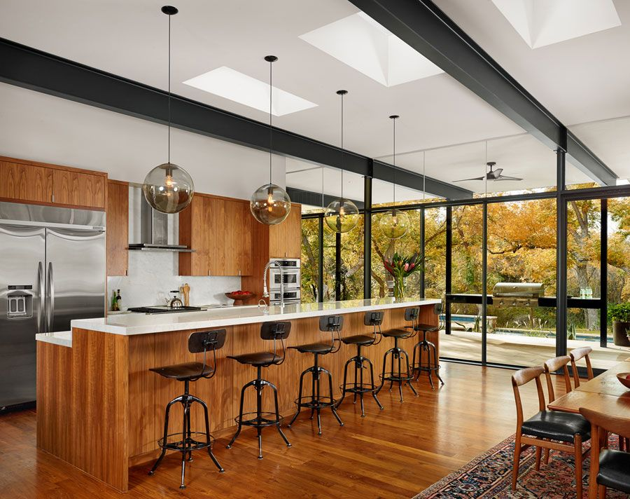 Creek Side Modern By Foursquare Builders Modern Kitchens
