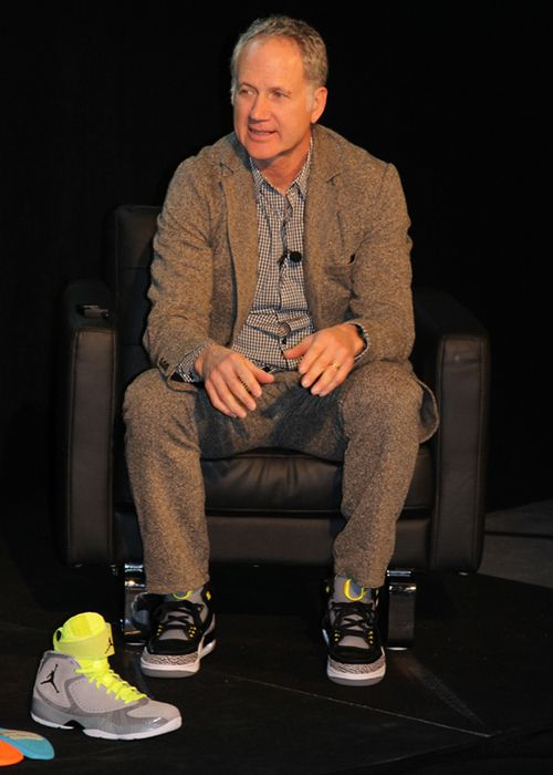 Nike Legend Tinker Hatfield in unreleased Air Jordan 3s