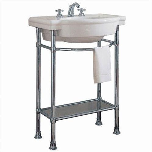 Retrospect Ceramic Specialty Console Bathroom Sink With Overflow Console Sink Pedestal Sink Bathroom Sink