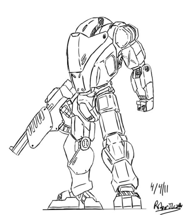 Sci,Fi Battle ArmorSuit in 2019