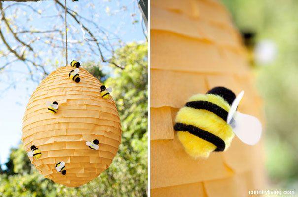 One Pretty Pin Beehive Pinata Diy Pinata Bee Party Hunger
