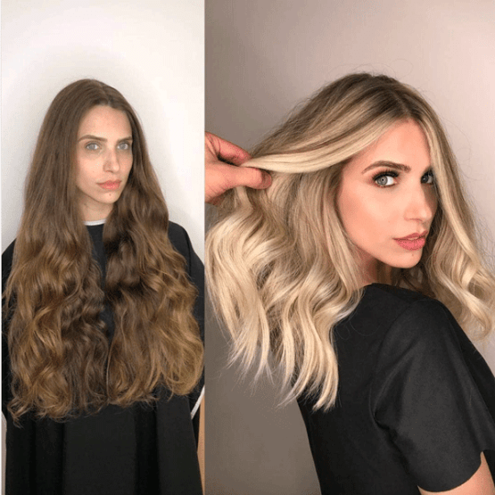 Mind Blowing Hair Transformation Before After Photos Gallery Blonde Hair Transformations Hair Makeover Hair Transformation