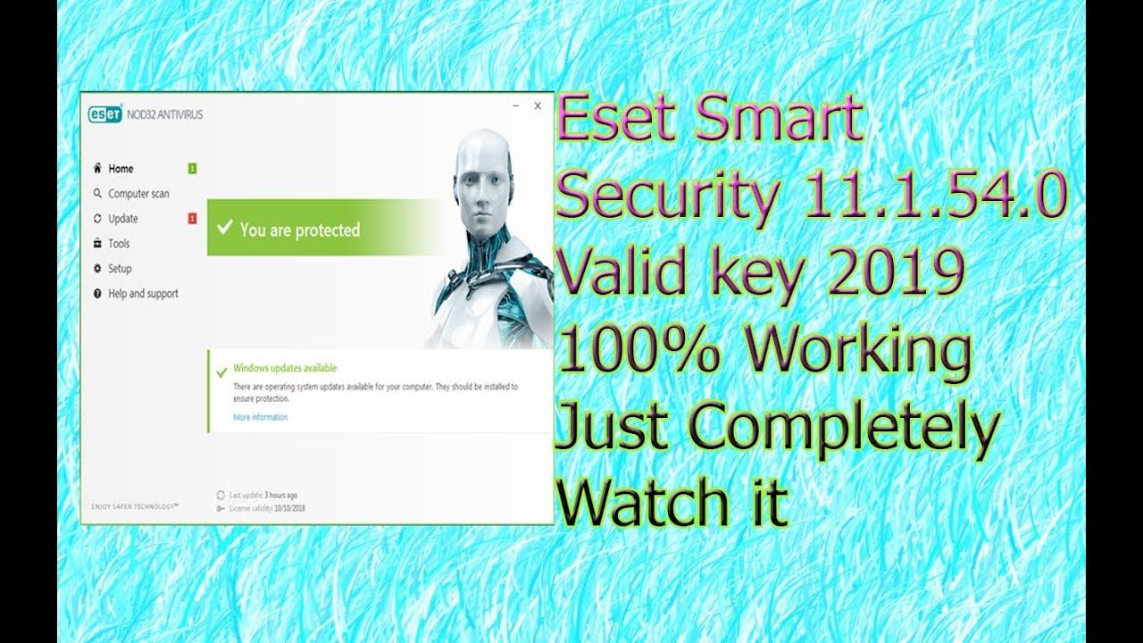 eset smart security keys 2019