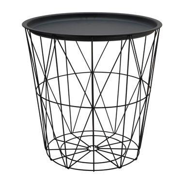 Opbergmand malm met dienblad zwart 40x41 cm spultjes pinterest interiors - Deco toilet zwart ...