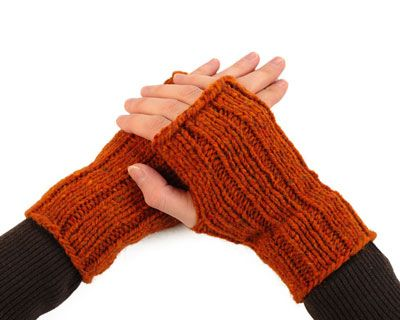 fingerless gloves- magic loop or double pointed needles ...