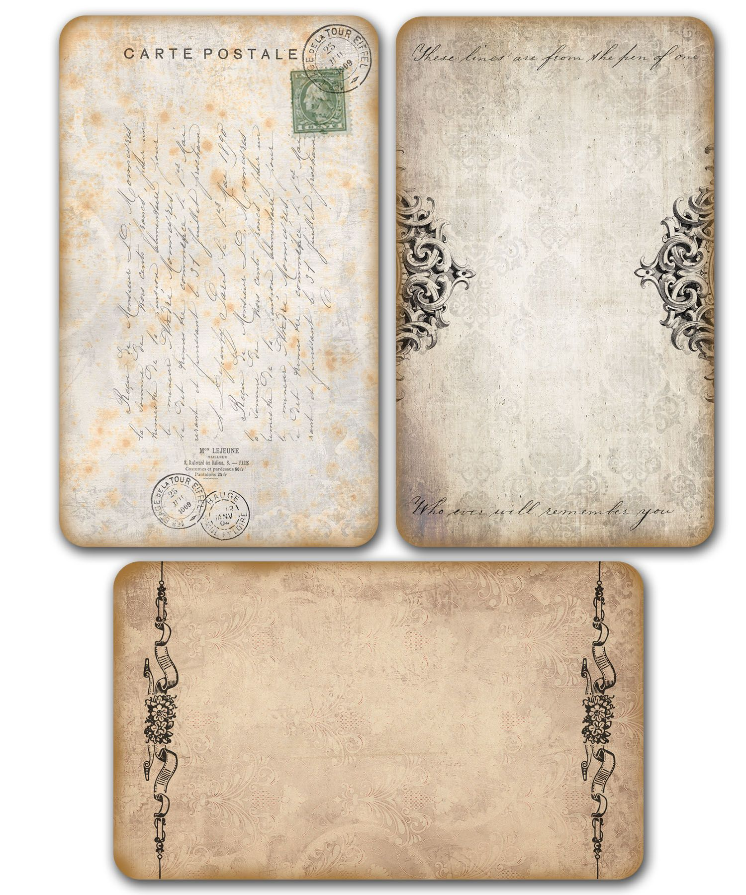 French Torn Printable Free French Label Vintage Paper Vintage Paper Vintage Printables Vintage Journal