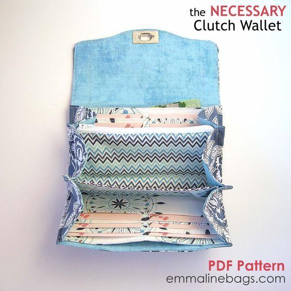 PDF - The Necessary Clutch Wallet | Pinterest