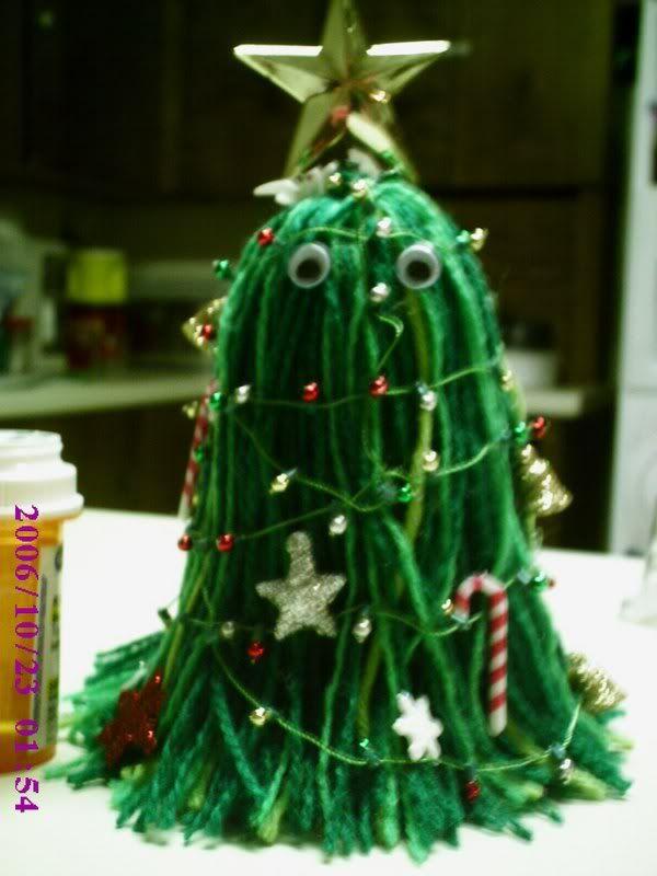 mini flying spaghetti monster christmas tree <3