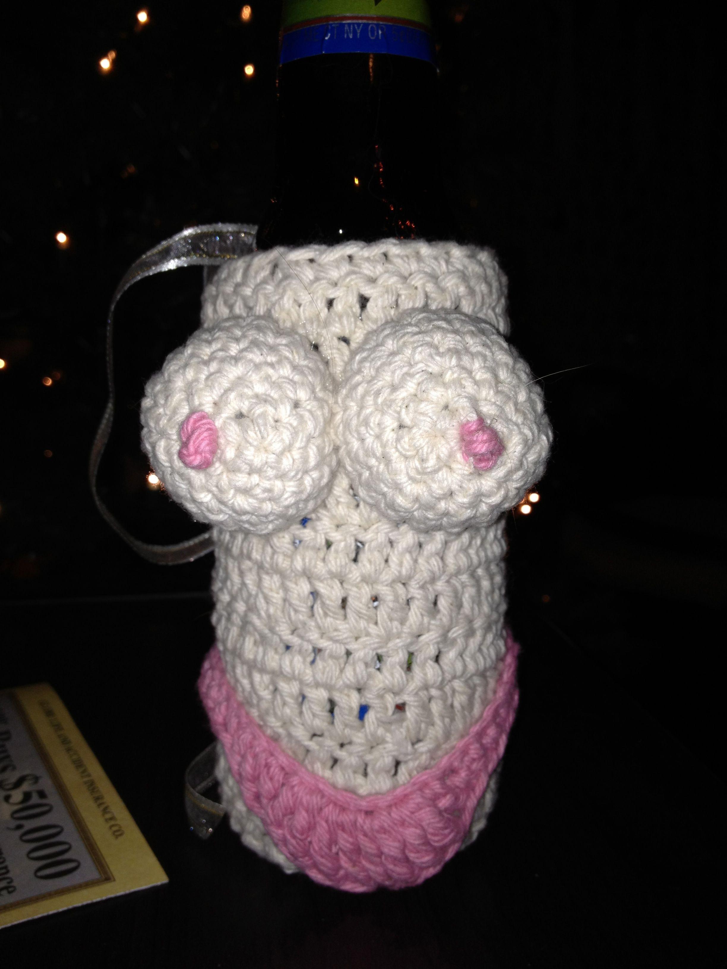 Naked Girl Bottle Cozy pattern by Kayla Webb   Häkeln